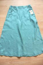 BODEN  dusty green  long linen skirt size 8R  new