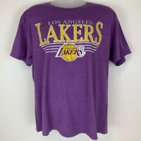 Los Angeles LA Lakers XL X-Large T Shirt NBA Basketball Purple Crew Graphic Tee