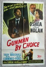 CIRCUMSTANTIAL EVIDENCE RETITLED GUNMAN BY CHOICE ORIG 1945 1SHT PSTR FLD POOR