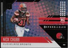 2018 Unparalleled Rookie Nick Chubb Cleveland Browns #216