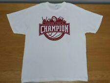 "OKLAHOMA SOONERS Basketball 100% Cotton ""Cheer Like A Champion"" T-Shirt Men's XL"