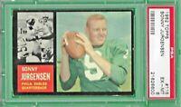 1962 Topps Football # 115 Sonny Jurgensen Eagles -1  PSA 6