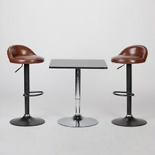 Adjustable Kitchen Chrome Bar Table Sofa Side End Coffee Dining Tall XT-6008