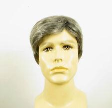 Perruque homme 100% cheveux naturel gris poivre et sel ref ALAN 44