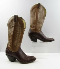 Ladies Tony Lama Brown Leather Cowboy Western Boots Size: 7.5 A *NARROW*