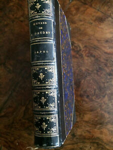 Daudet A, Sapho, édition de luxe de 1886.