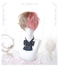 Japanese Lolita Daily Harajuku Fashion Short Curly Hair Male Wig Hairpieces 26cM