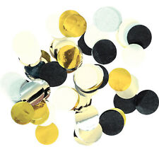 Black Silver Gold Dot Table Confetti New Year Black Silver Gold Party Decoration