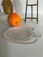 "6"" small Clear Glass Fish Plate France"
