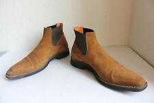 Santoni Luxus Elegante Chelsea Boots Wildleder Brauntöne Eu:42,5-Uk:8,5
