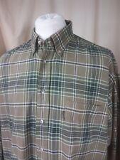 """BARBOUR 100% cotone check Verde Kaki Camicia BUTTON DOWN XL 17.5"""""""