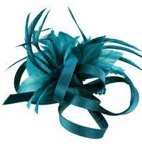 Satin Loop & Feather Flower Comb Fascinator