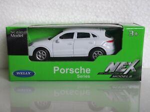 🚗 WELLY NEX Scale Model 1:60 PORSCHE CAYENNE TURBO white