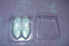Franklin Mint White Suit Shoes With Blue Tips For Vinyl Princess Diana Doll