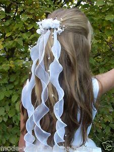 Kopfschmuck Haarschmuck Haarkamm Haargesteck  z. Kommunionkleid Brautkleid *3