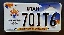 Utah OLYMPIC WINTER GAMES 2002 SALT LAKE CITY UT Specialty License Plate