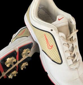 Nike Lunar Black White Pink Women Golf Shoes Cleats 8.5 418376 161 Lunarlon