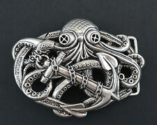 OCTOPUS 3D BOAT ANCHOR HA 2333  BELT BUCKLE FITS 1 1/2 INCH WIDE BELT STRAP NEW