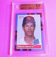 1988 Donruss Roberto Alomar #34 (Rookie Card) BGS 9.5 GEM MINT