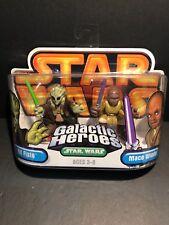2005 Star Wars Galactic Heroes Kit Fisto & Mace Windu
