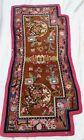 "Tibetan Mongolian  Antique Flower Saddle Carpet Rug Blanket~~25.5""  X  51.5"""