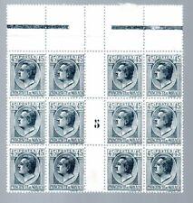 """MONACO --  Bloc de 12 timbres BdF 45 c gris Prince Louis II  """" Millésime 5 """""""