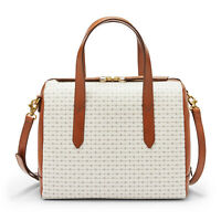 NWB Fossil Sydney Crossbody Satchel White Handbag SHB1987103 $138 Dust Bag