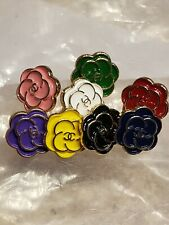 New listing Set of 10 Chanel camellia tiny 12 mm buttons, choose your colors
