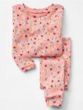 GAP Baby Girls Size 3T / 3 Years Pink Festive Christmas Lights Pajama PJ Set