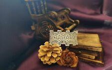 14k White Gold Over 10ct Diamond Sparkling Dainty Cocktail Bracelet Bangle