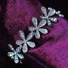 White Gold Plated Made With Swarovski Crystal Leaf Shape Bracelet T35
