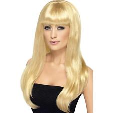 Womens Girls Blonde Babelicious Wig Long Straight Fringe Katy Perry Colour Hair