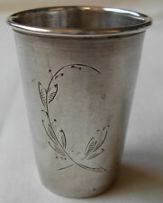"VINTAGE 800 SILVER ENGRAVED POLISH CUP - BY ""KiM"" -  24.5 grams - POLAND"
