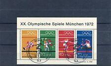 BRD Block 8 mit ESST Olympische Sommerspiele München 1972 - b1327