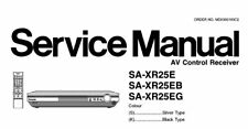 NATIONAL SA-XR25E SA-XR25EB SA-XR25EG AV CONTROL RECEIVER SERVICE MANUAL BOOK