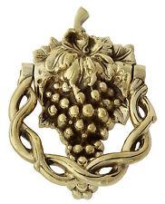 """Solid Brass Grape Vine Door Knocker - classic antique vintage door knockers (6"""")"""