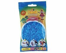 Hama Sachet de 1000 perles à repasser 73 Bleu Eau Transparent