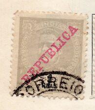 Portuguese India 1910 Early Issue Fine Used 1r. Republica Optd 166047