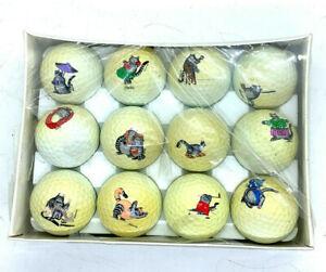 Spalding 12 Special Edition Golf Balls Vintage 1992 B Kliiban Aloha Cat dozen