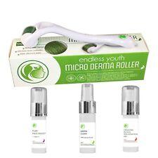 Titanium Derma Roller Kit Hyaluronic Acid + Vitamin C + Dragons Blood + Cleaner