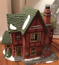 Heritage Village Collection Dickens Series BROWNING COTTAGE Christmas #58246