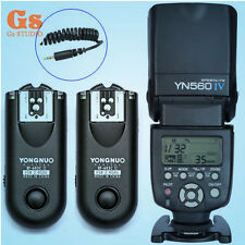 Yongnuo YN-560 IV Flash Speedlite + RF-603II Trigger C1 for Canon 1000D/600D
