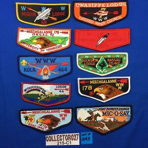 Boy Scout OA 10 Mixed Lot Order Of The Arrow Pocket Flap Patches Lot# OA 3