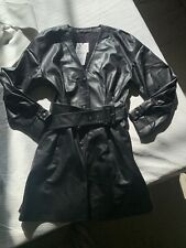 Zara Faux Leather Belted Jacket Dress Size M