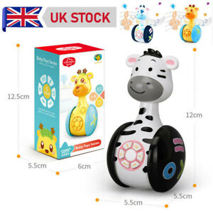 Tumbler Doll Baby Toys Cute Rattles Toys for Newborns 3-12 Month Baby Boys Girls