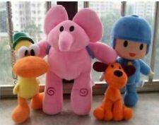 Bandai Pocoyo Elly Pato Loula Soft Plush Stuffed Figure Toy Doll Set Of 4 Gift