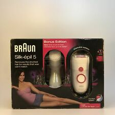 Braun 5329 Silk Epil 5 Power Pink White Epilator & Facial Brush -NEW DAMAGED BOX