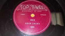 FOUR JACKS Gee / EILEEN SCOTT Man Upstairs RARE R&B DOO-WOP 78 Top Tunes 1075