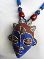 AFRICAN ART - African TIKAR Passport Mask Necklace, Cameroon, Trade Beads