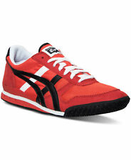 Asics Womens Ultimate 81 Fabric Low Top Lace Up, Firey Red/Black, Size 8.0